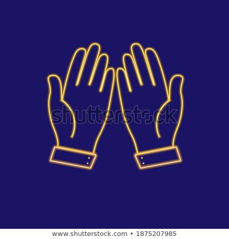 Ask golden Vector Icon Design stock photo © rizwanali3d