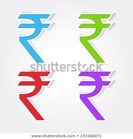 Rupee Sign Red Vector Icon Design Stock photo © rizwanali3d