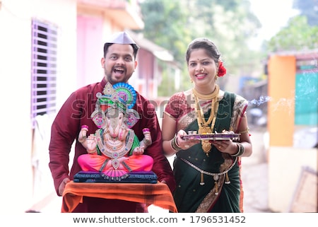 couple praying on diwali stock photo © imagedb