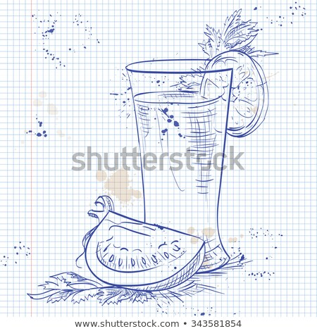 bloody mery on a notebook page stock photo © netkov1
