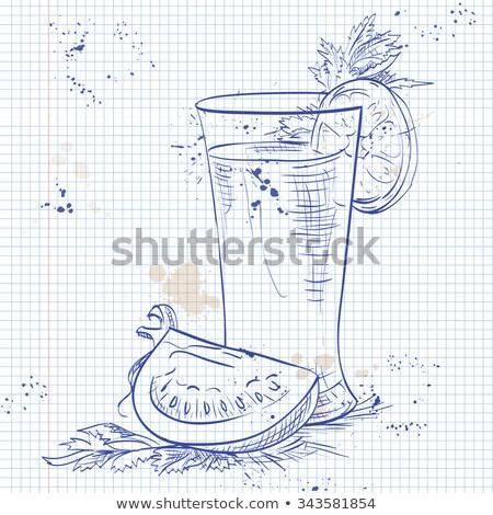 Stockfoto: Bloedig · notebook · pagina · cayenne · peper · rand