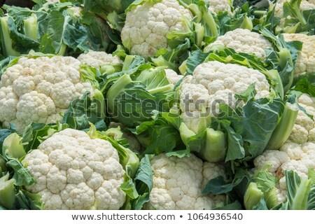 Zöld organikus karfiol fej friss egészséges Stock fotó © Klinker
