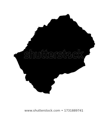 Лесото стране флаг карта форма текста Сток-фото © tony4urban