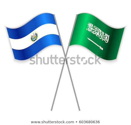 Szaúd-Arábia El Salvador zászlók puzzle izolált fehér Stock fotó © Istanbul2009