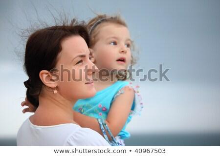 Bela mulher little girl vento mulher praia natureza Foto stock © Paha_L