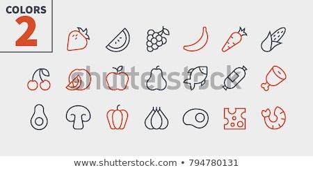 Garnalen lijn icon web mobiele infographics Stockfoto © RAStudio