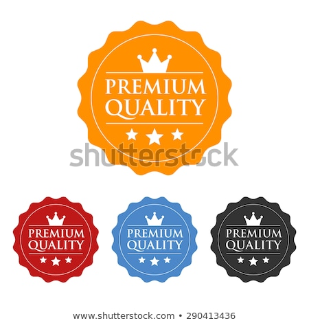 Premium Quality Red Seal Vector Icon Stock photo © rizwanali3d