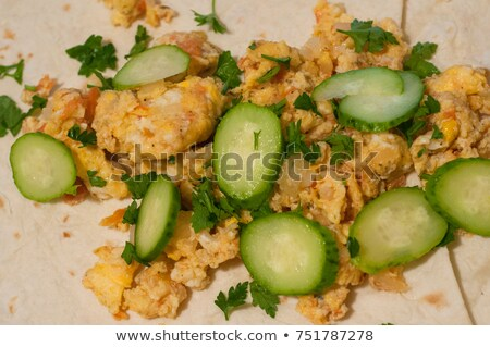 卵 · 新鮮な · レタス · サラダ · 菜 · 赤 - ストックフォト © ozgur