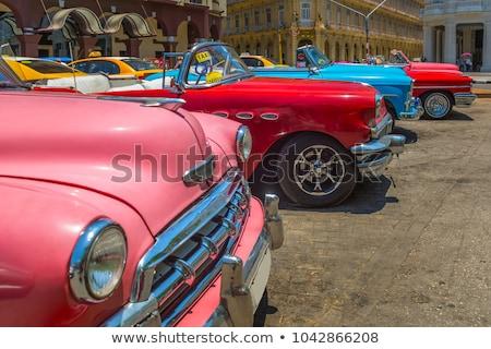 Stock fotó: Old Vintage Car On The Streets Of Havana On The Island Of Cuba