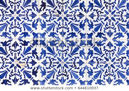 typical blue tiles in portugal stock photo © compuinfoto