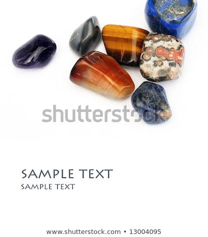 Collectie kleurrijk natuur glas Blauw rock Stockfoto © courtyardpix