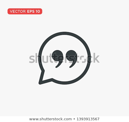 Blockquote sign icon Illustration Stock photo © kiddaikiddee