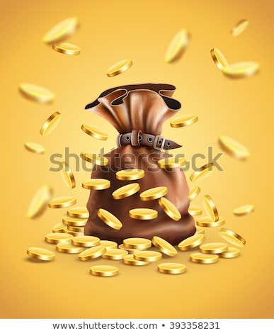 Gold coins falling down Stock photo © LoopAll