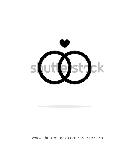 wedding rings outline icons stock photo © blumer1979
