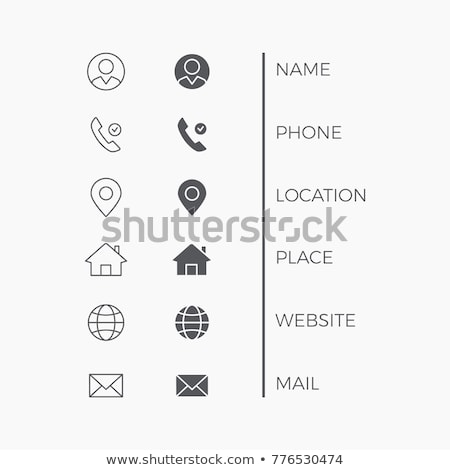 Carte de visite illustration homme d'affaires affaires affaires signe Photo stock © get4net