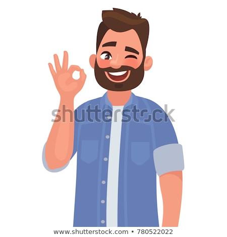 successful businessman okay gesture ok stock photo © studiostoks