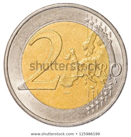 Euro · érme · izolált · fehér · zászló · Litvánia - stock fotó © seen0001
