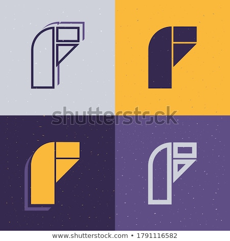 Stockfoto: Letters Painted In Bold Line Icon