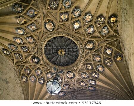 Steen plafond insigne college cambridge Engeland Stockfoto © searagen