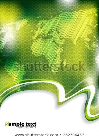 Hatszög minta brosúra világtérkép üzlet sablon Stock fotó © vipervxw