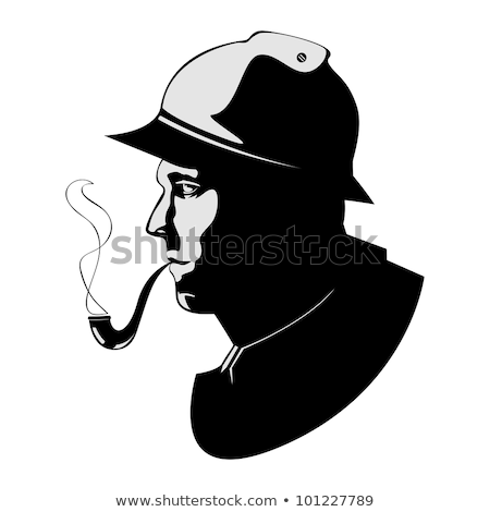 the vector silhouette pipe smoker stock photo © sdmix
