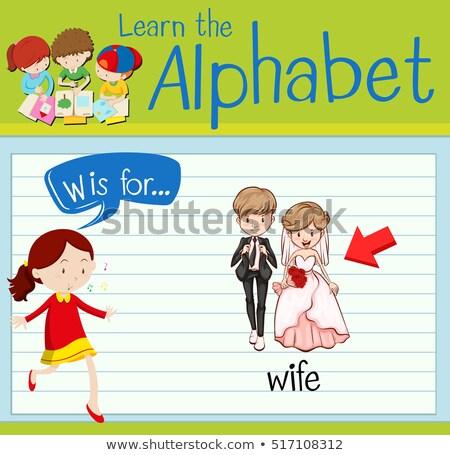 List w żona ilustracja kobieta człowiek tle Zdjęcia stock © bluering