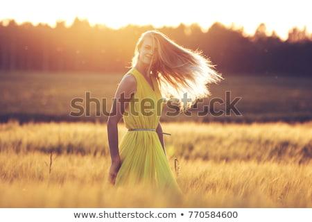 блондинка модель улице привлекательный Открытый среде Сток-фото © actionsports