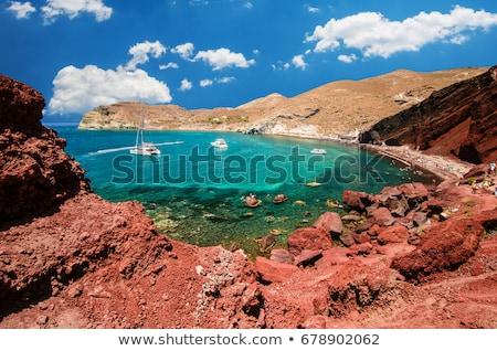 Volcánico rocas acantilado santorini Grecia naturaleza Foto stock © photocreo