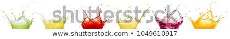 Gyümölcslé víz ital eper reggeli friss Stock fotó © M-studio