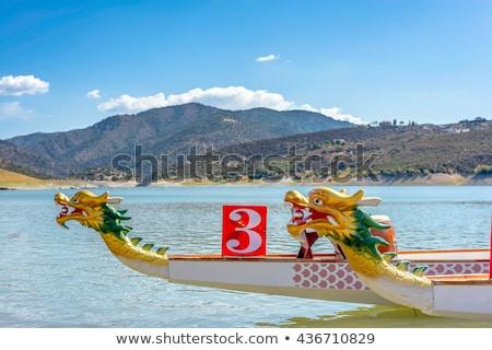Prow of Dragon Boat - traditional Asian longboat Stock photo © Kirill_M