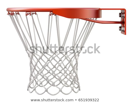 Basquetebol branco rua suporte isolado madeira Foto stock © pakete
