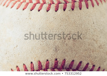 Old baseball and worn mitt on old wood with vintage style Stock photo © tab62