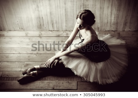 the art photo emotional dance of beautiful ballerina stock photo © master1305