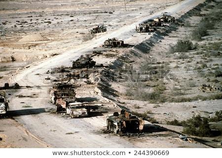 Four combat tanks Stock photo © bluering