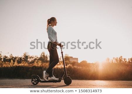 Meisje vector tekening jong meisje paardrijden Stockfoto © UltraPop