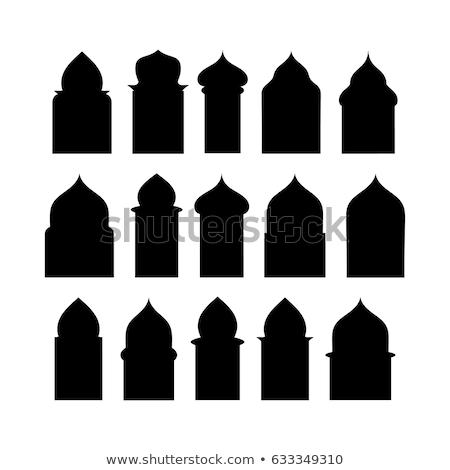Silhouette Moschee asian Muster islam Stock foto © popaukropa