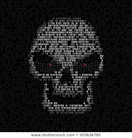 white monitor with skull code Stock photo © romvo