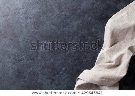 Eski taş mutfak masası havlu üst görmek Stok fotoğraf © karandaev