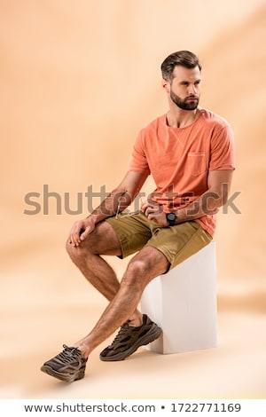fiatal · divatos · elegáns · férfi · rövid · szakáll - stock fotó © zurijeta