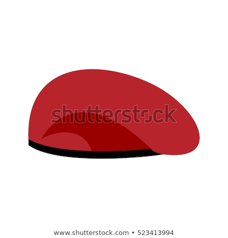 Beret military red. Soldiers cap. army hat. War barret Stock photo © popaukropa