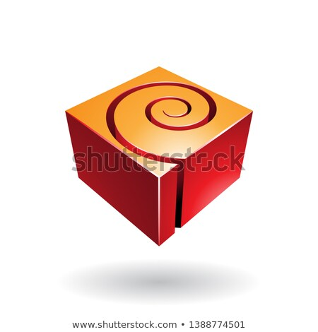 Cubical Spiral Shape Abstract Icon Stock photo © cidepix