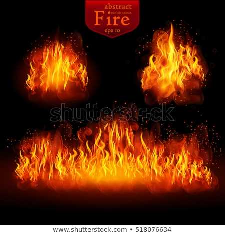 realistic fire transparent effect eps 10 stock photo © beholdereye
