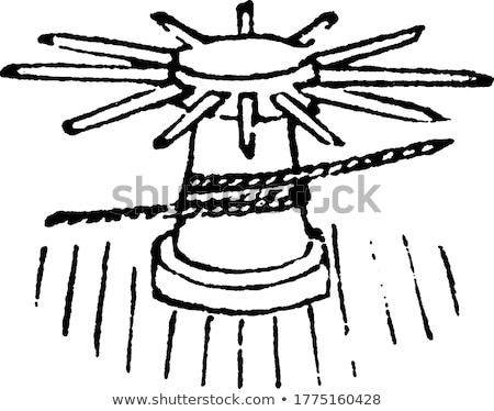 リボルバー シリンダー 孤立した 白 金属 恐怖 ストックフォト © konturvid