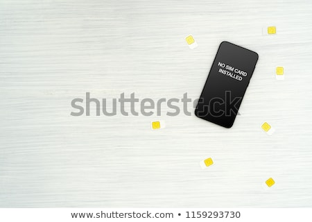 no sim card installed notification on smartphone screen stock photo © stevanovicigor