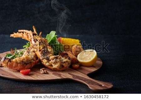 Kreeft frans brood kaas Rood vlees Stockfoto © vichie81