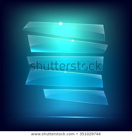 Stockfoto: Transparant · ijs · plaat · realistisch · 3D · tekst