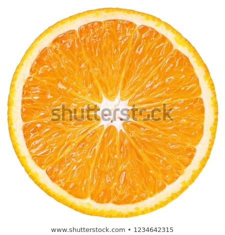 Laranja seção transversal fatia fruto de laranja branco de volta Foto stock © prill