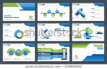 Profi brosúra prospektus sablon terv épületek Stock fotó © SArts