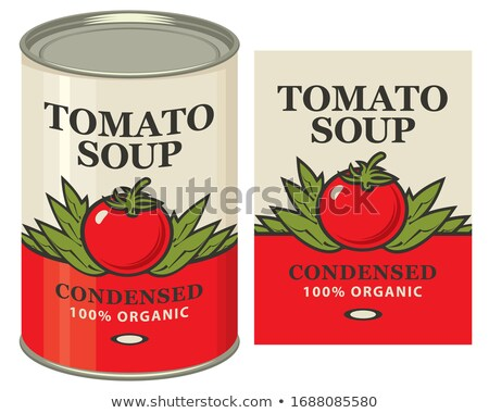 Canned food for tomato soup Stock photo © bluering