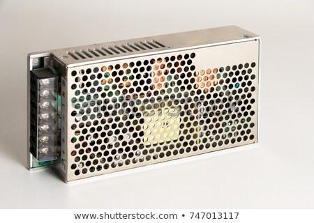 Source de courant technologie énergie pouvoir blanche électronique Photo stock © clarion450